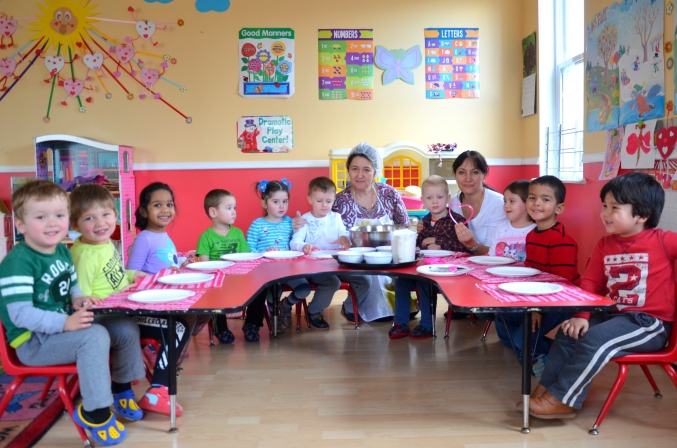 Cooking class at preschool